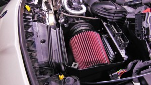 Mishimoto Mercedes air intake system installed