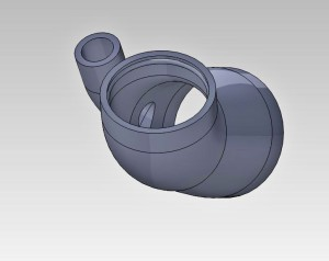 Throttle-body hose 3D model