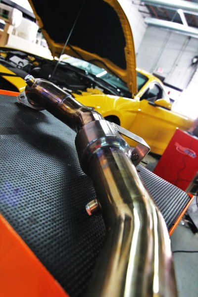 Mishimoto EcoBoost downpipe after dyno runs