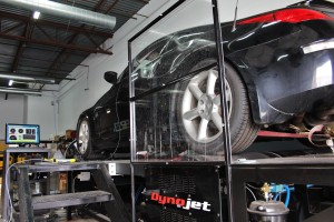 350Z on dyno for intake testing