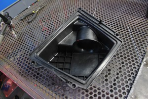 Stock Fiesta ST intake airbox lid velocity stack