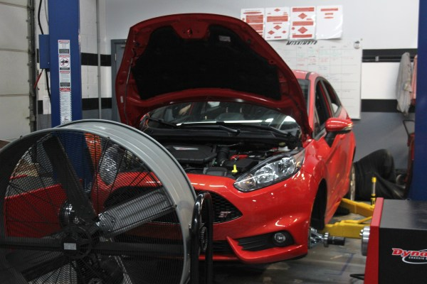 Dyno preparation for Fiesta ST parts testing
