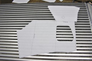 Nissan 350Z intake airbox design, paper templates