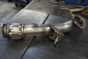 Finished prototype of the non-catted Fiesta ST downpipe