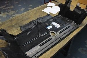 Stock under tray ready for modification