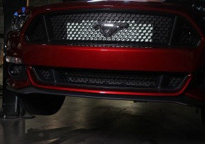 Mustang GT oil cooler behind the bumper