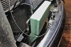 Prototype F150 EcoBoost intercooler core installed