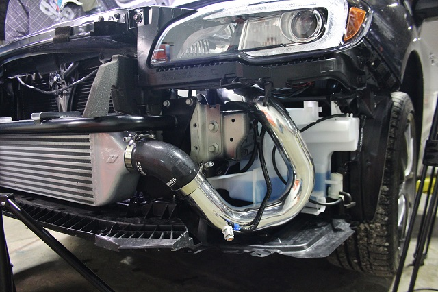 Mishimoto STi intercooler kit installed