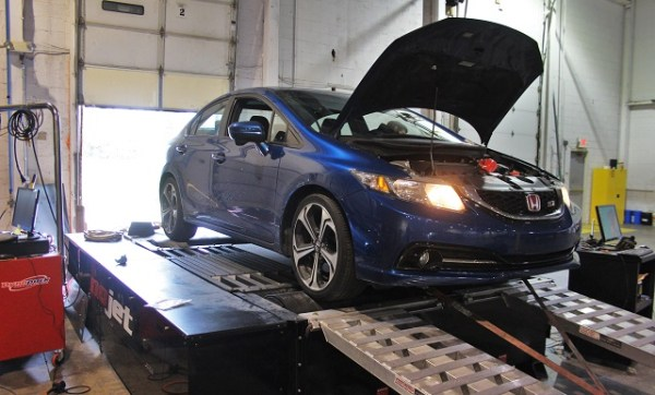 Mishimoto Honda Civic performance parts testing