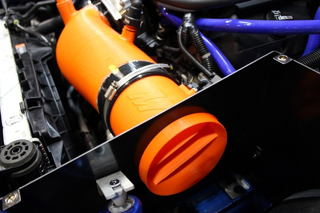 "Massive prototype 5"" Camaro cold air intake"