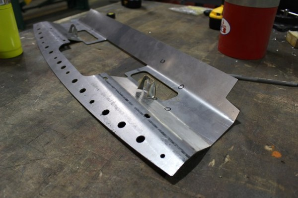 Mustang oil cooler bracket