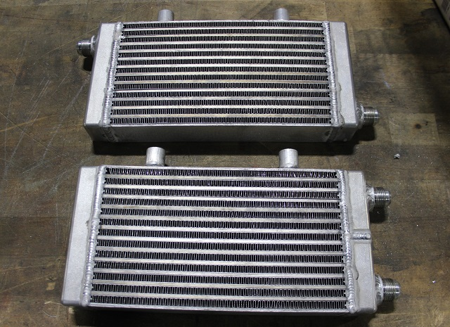 Mustang oil cooler prototypes