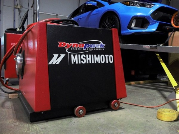 Mishimoto's Dynapack system with our Ford Focus RS lurking on the Dynojet