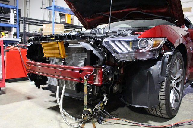Prototype Mustang parts installed for testing