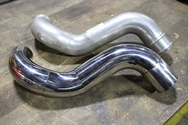 Titan XD stock and Mishimoto intercooler pipe