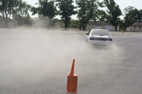 This Foxbody Mustang had no power steering, but got down!