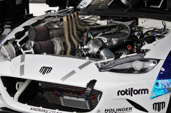 Mad Mike's Insane quad-rotor, twin turbocharged MX-5