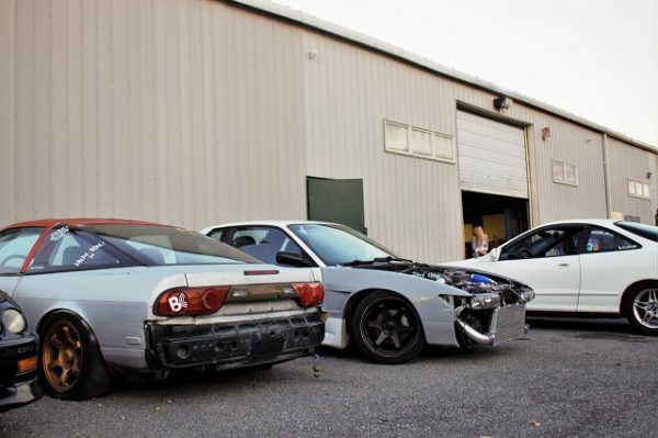 Here sits Justin's S13 hatch shell, accompanied by a friends 1JZGTE swapped S13 coupe