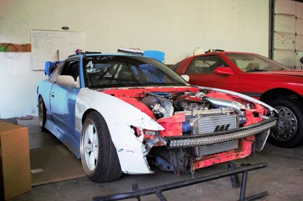 Justin's S13 getting ready for the winter tear down