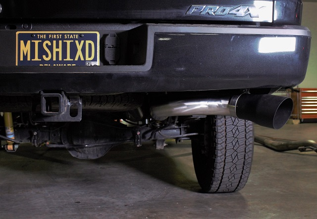 Mishimoto's Titan XD exhaust installed