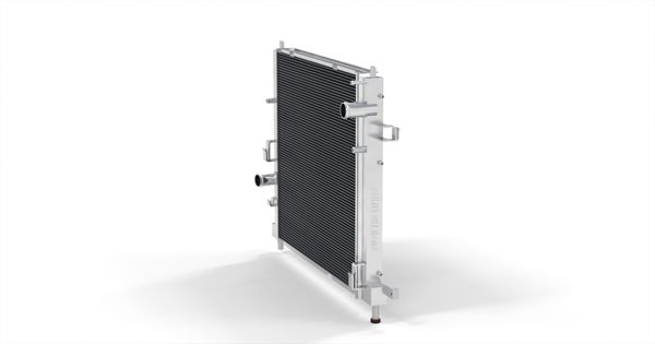 Side view of the Mishimoto Camaro radiator