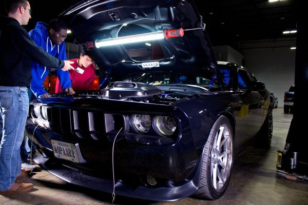 Everybody in the shop had to come out and admire Neichaun's 2013 Challenger R/T