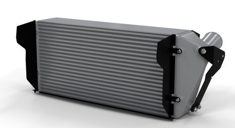 Mishimoto's Cummins intercooler rendering