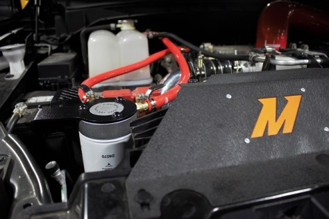 Titan XD coolant filtration kit installed