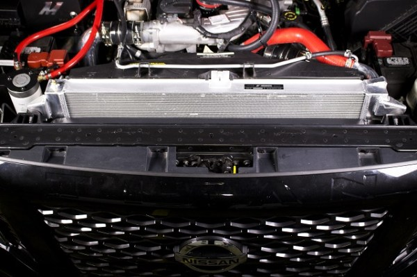 Mishimoto's Titan XD intercooler installed