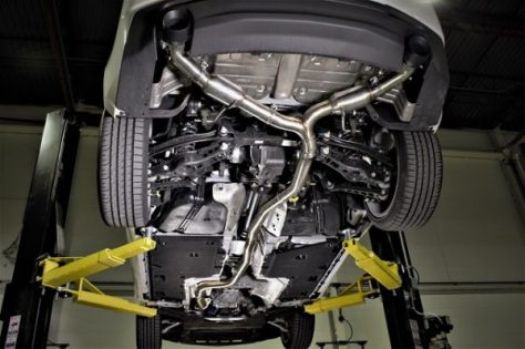 Entire shot of the exhaust system