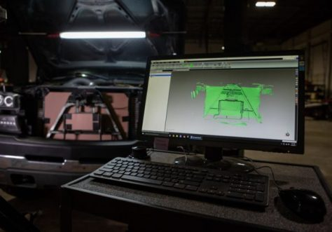 Steve used out Faro Design ScanArm to create a 3D model for the front of our loaner 2500HD in order to easily determine a build envelope for the new and improved cooler