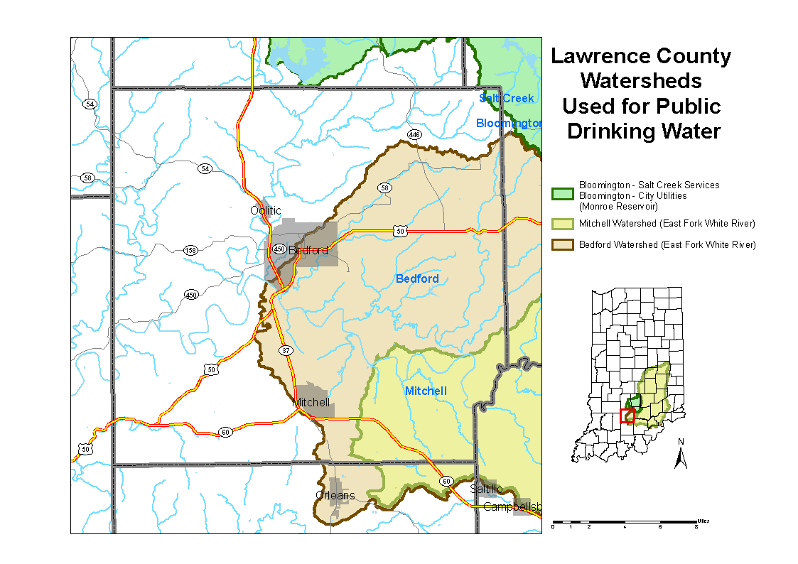 Lawrence County Watershed Map