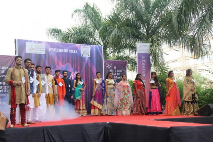 saraswati college freshers party