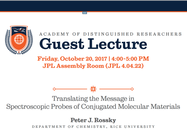 Academy Of Distinguished Guest Lecture