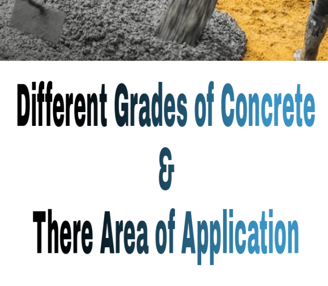 Different Grades of Concrete and their Area of Application