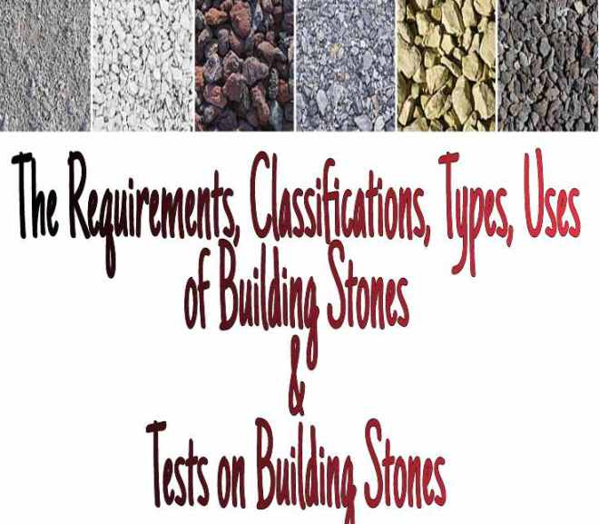 Building Stone – Its Requirements, Classifications, Types, Uses in Construction and Tests on Building Stones