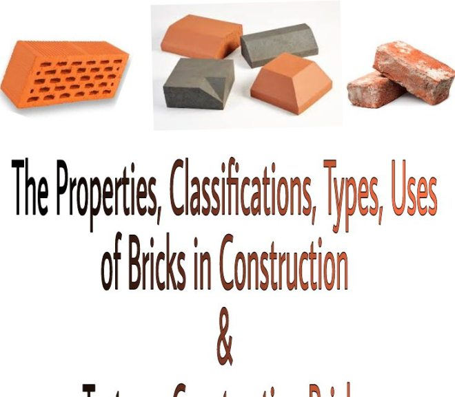 Bricks – Its Properties, Classifications, Types, Uses in Construction and Tests on Construction Bricks