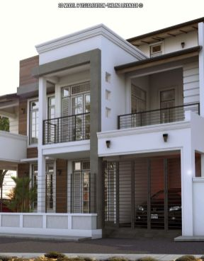 Proposed house at_nugegoda_Sri lanka.3D model and visual made with sketchup_vray and adobe photoshop