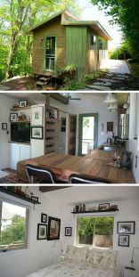 A couple downsized from their 3_500 sq ft home to this 250 sq ft cabin in the Blue Ridge Mountains o.