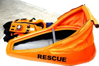 A life jacket that turns into a raft_