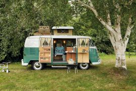 A lot like we used to roll across the country when I was a kid in dad_s green VW van we names _El Pi.