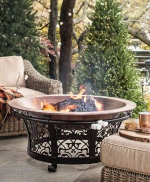 Amazing Firepit Ideas with Comfy Seating Areas _firepitideas _backyardideas _patioideas _homeoutdoor