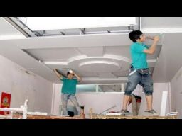 Amazing Techniques Construction Plaster Ceiling Living Room _ Building House_ Step By Step _ YouTube