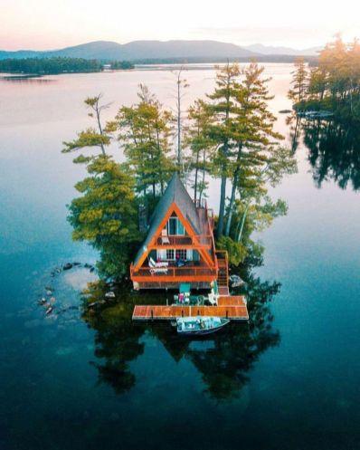 An island cabin
