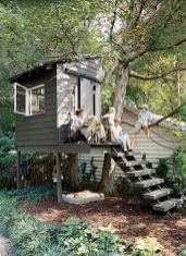 Awesome Treehouse_ Sandbox under the tree house_ cute_