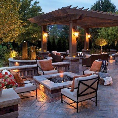 Backyard Fire Pit ideas _firepitideas _backyardideas _backyardwithseatingarea _homeoutdoor