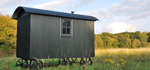 Butser _ A beautiful Wriggly Tin Shepherd hut in the South Downs National Park. Perfect for those long summer walks.