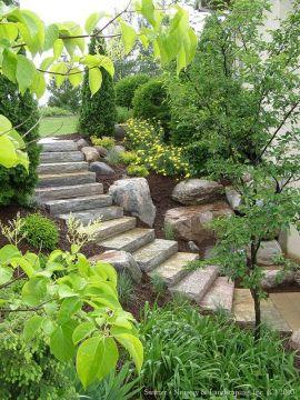 Chilton Natural Stone Steps_ Borgert Products Strassen® Bavaria II Paver Landing & Aqua Grantique Na