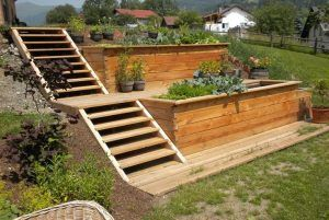 Construction of Loft Beds _ Vegetable Garden DIY Ideas