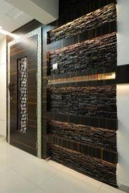 Custom Wooden Door with Stone Wall
